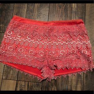Pants - Orange Lace Shorts 🧡